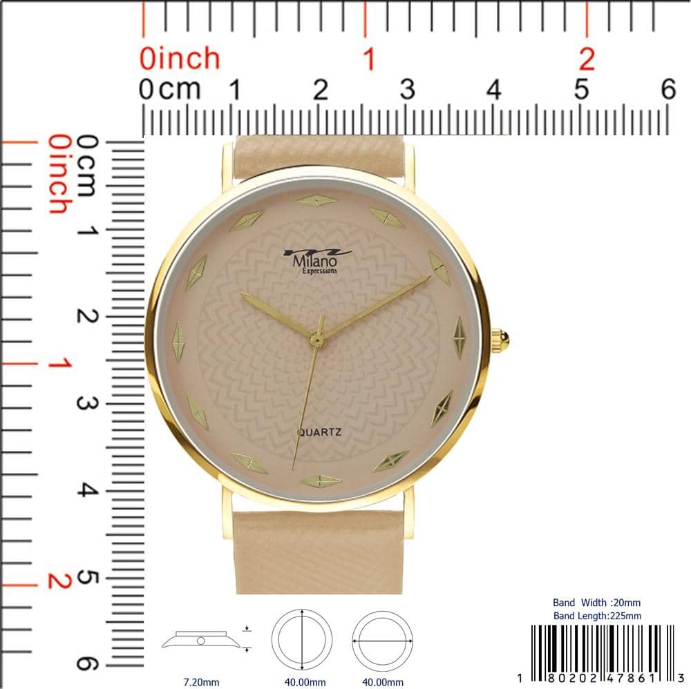 4786 - Vegan Leather Band Watch