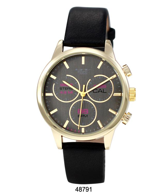 4879 - Vegan Leather Band Watch