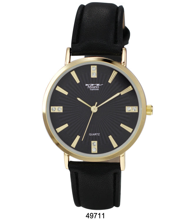 4971 - Vegan Leather Band Watch
