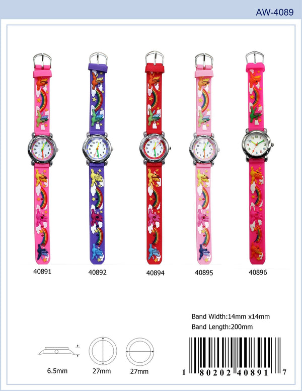 27MM Kids Watch with Unicorns - 4089