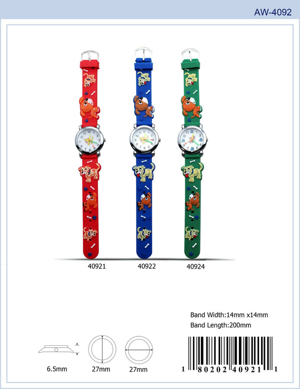 27MM Kids Watch with Dog Print - 4092