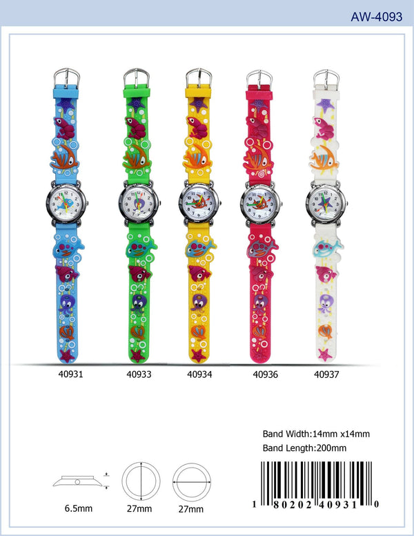27MM Kids Watch with Fish Print - 4093