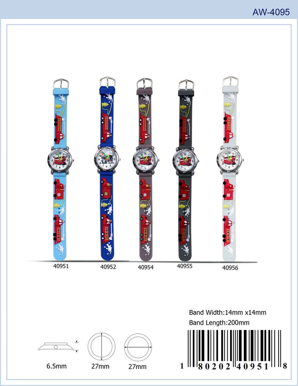 27MM Kids Watch with Bus Print - 4095