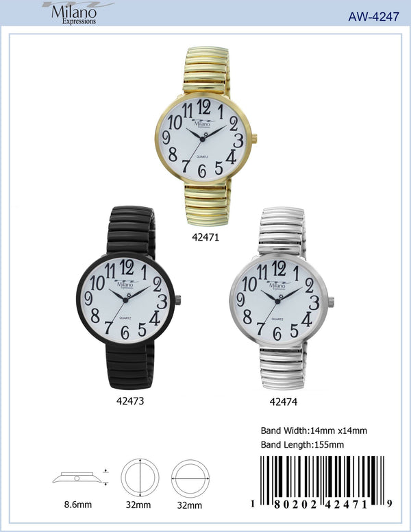 32MM Milano Expressions Flex Band Watch - 4247