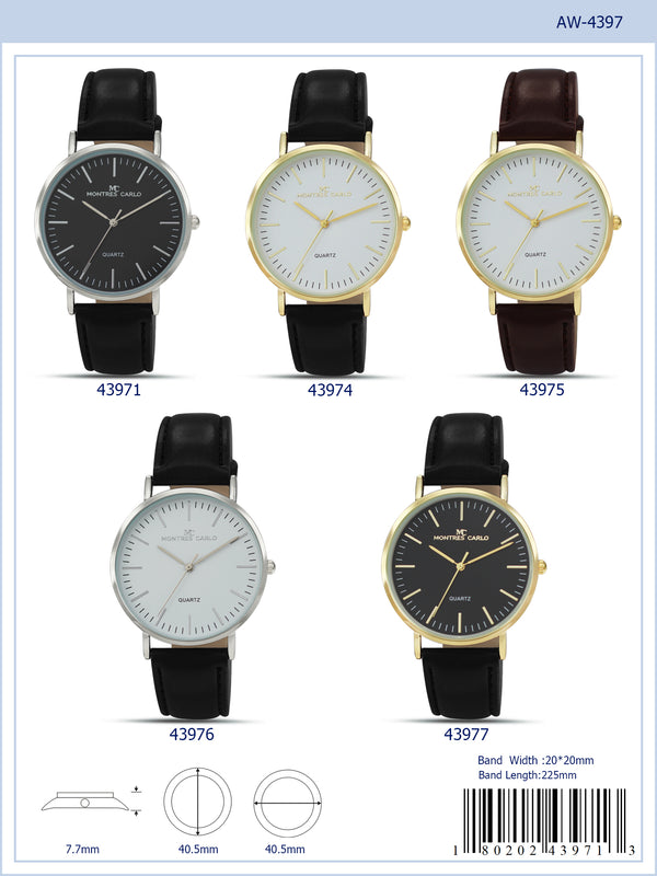 40MM Milano Expressions Vegan Leather Strap Watch - 4397