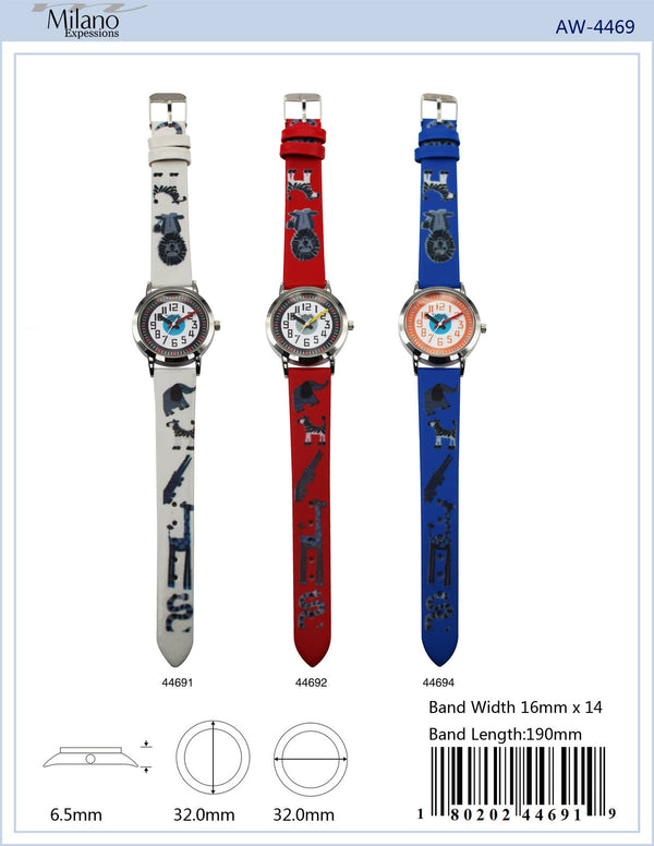 32MM Milano Expressions Kids Watch with Animal Print - 4469