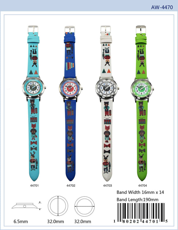 32MM Milano Expressions Kids Watch with Animal Print - 4470