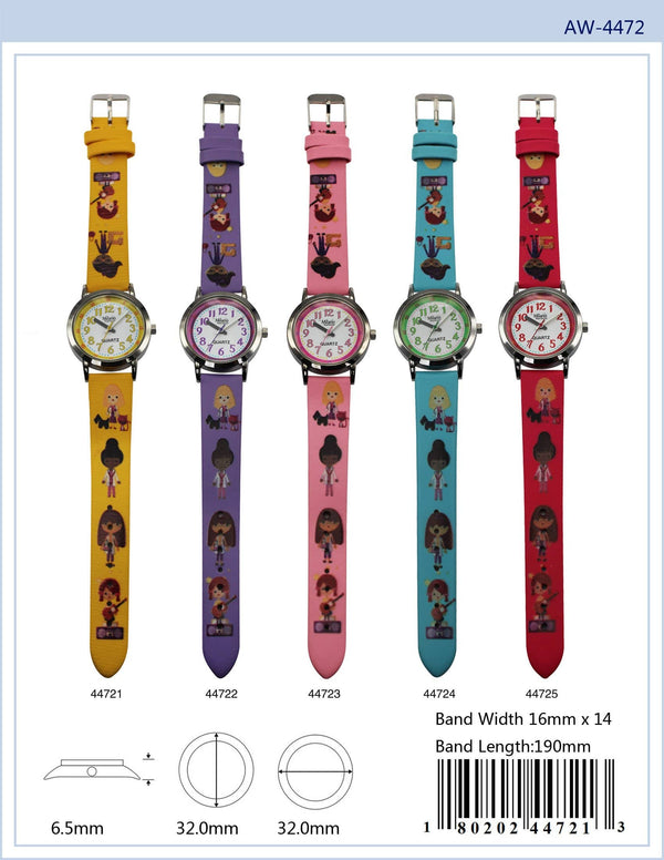 32MM Milano Expressions Kids Watch with Career Print - 4472