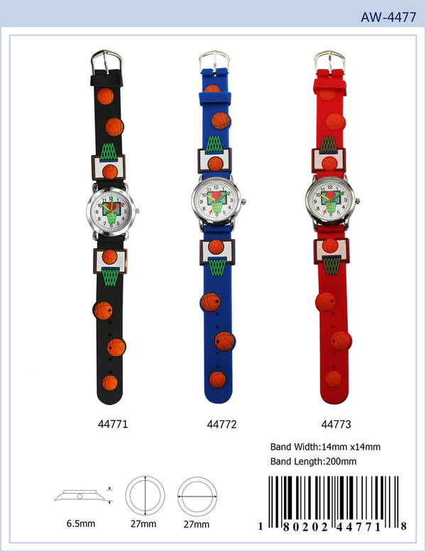 27MM Kids Watch with Basket Ball Print - 4477