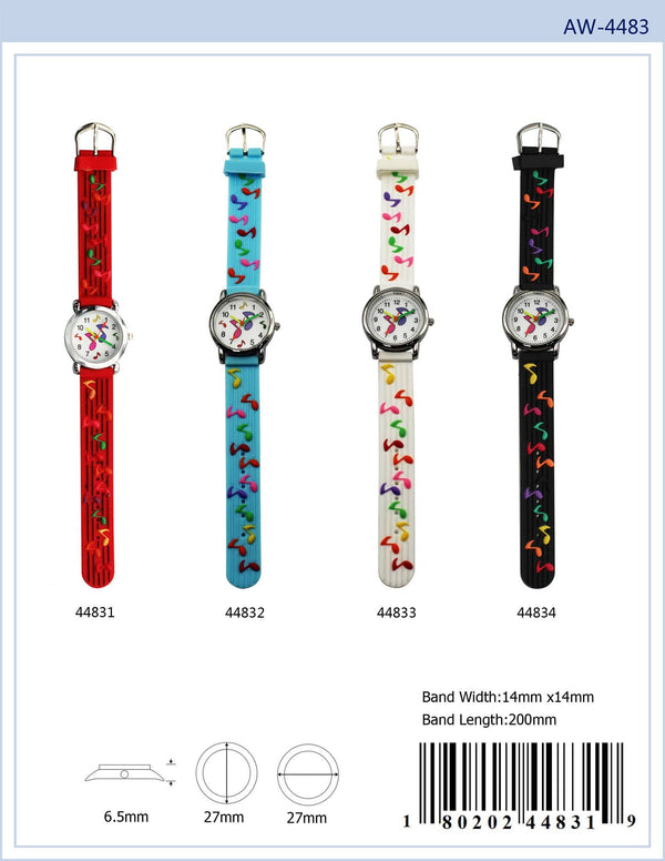 27MM Kids Watch with Music Print - 4483
