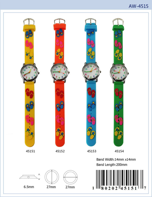 27MM Kids Watch with Flip Flop Print - 4515