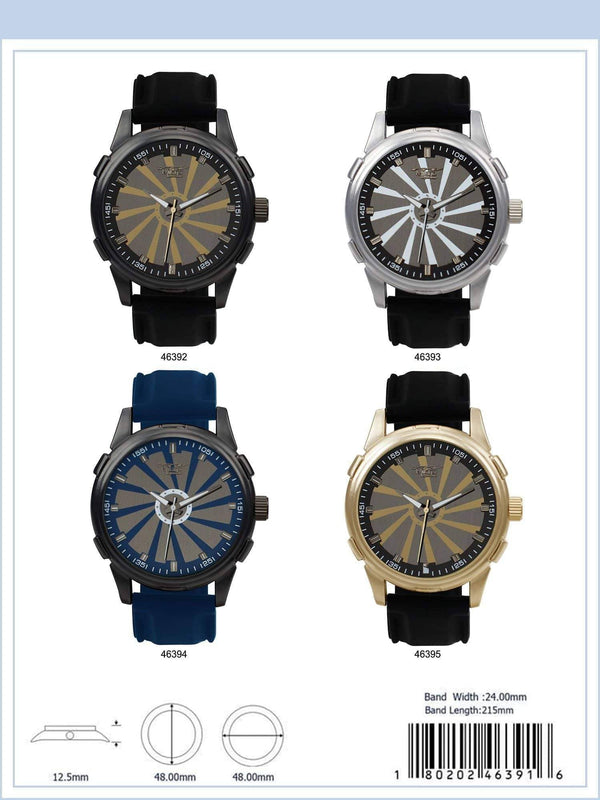 48MM Milano Expressions Silicon Band Watch - 4639