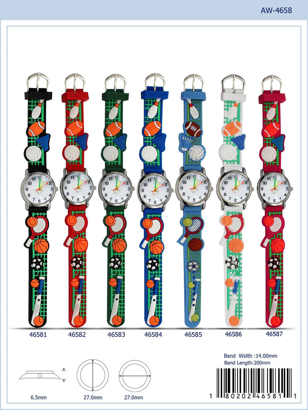 27MM Kids Watch with Sports Print - 4658