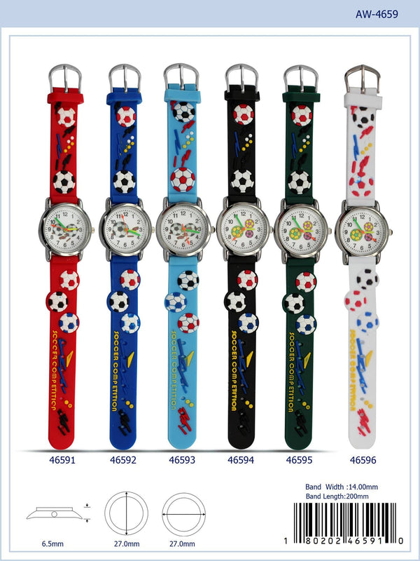 27MM Kids Watch with Soccer Print - 4659