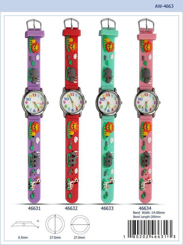 27MM Kids Watch with Animal Print - 4663