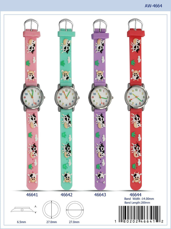27MM Kids Watch with Cow Print - 4664
