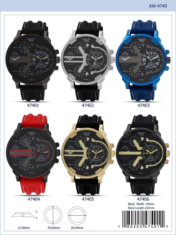 50MM Milano Expressions Rubber Strap Watch - 4740