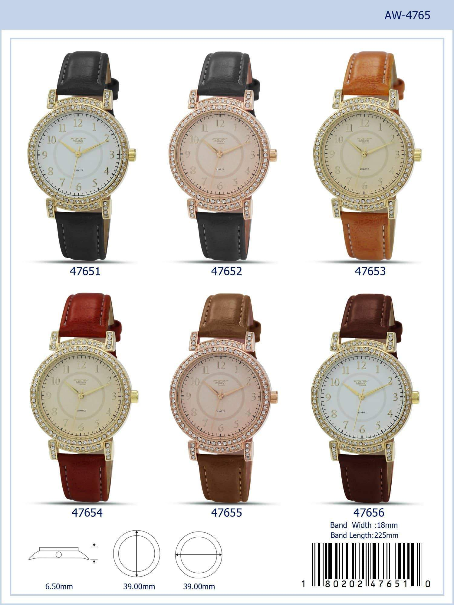 4765 - Vegan Leather Band Watch