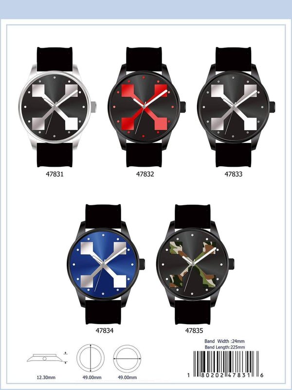 49MM Milano Expressions Rubber Strap X Watch - 4783