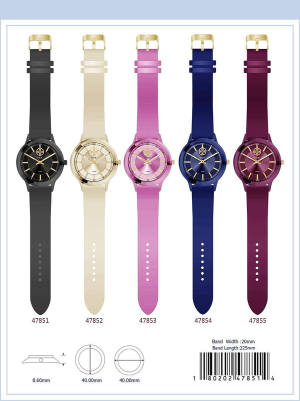 40MM Milano Expressions Rubber Strap Watch - 4785