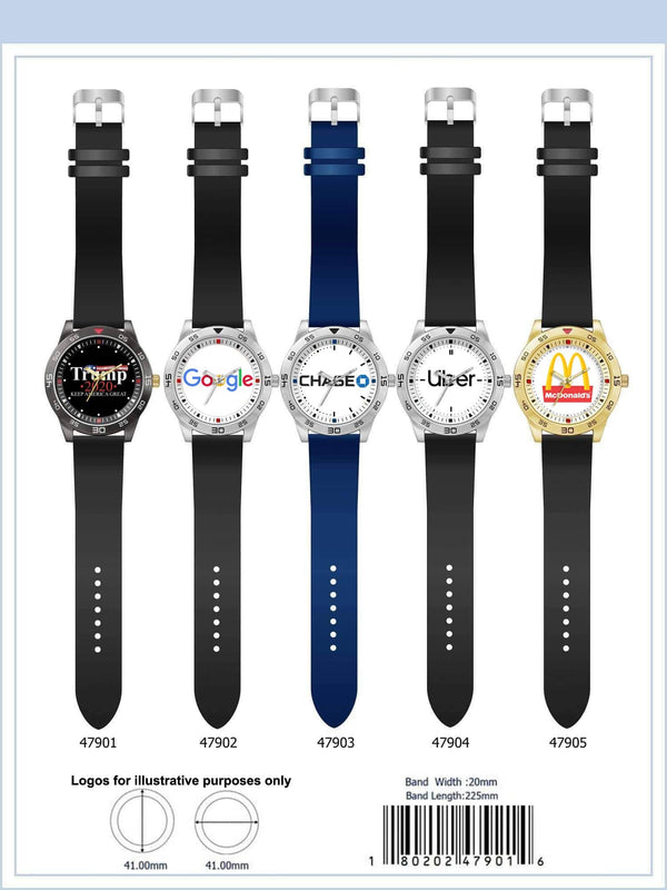 41MM Customizable Rubber Strap Watch - 4790