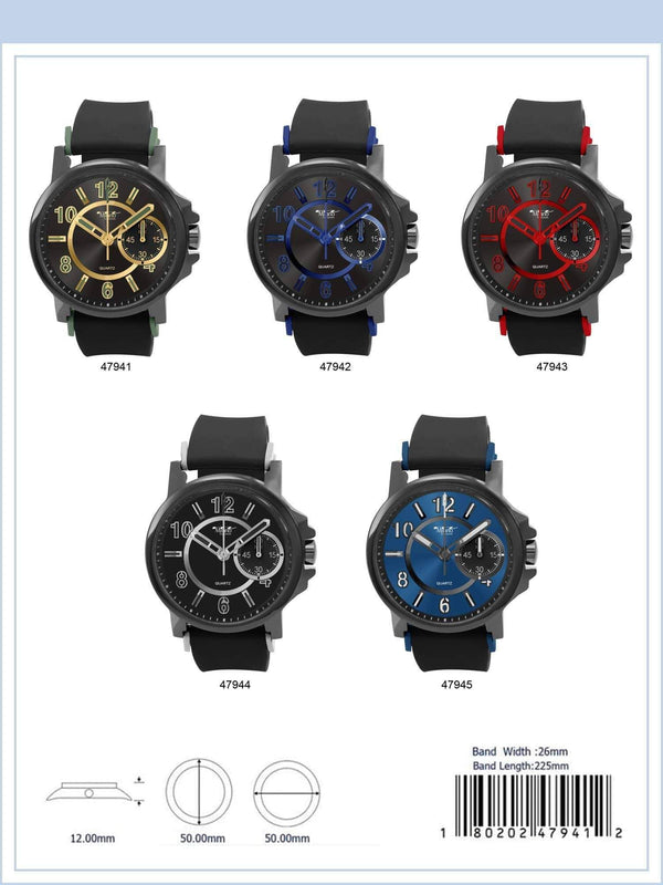 50MM Milano Expressions Rubber Strap Watch - 4794