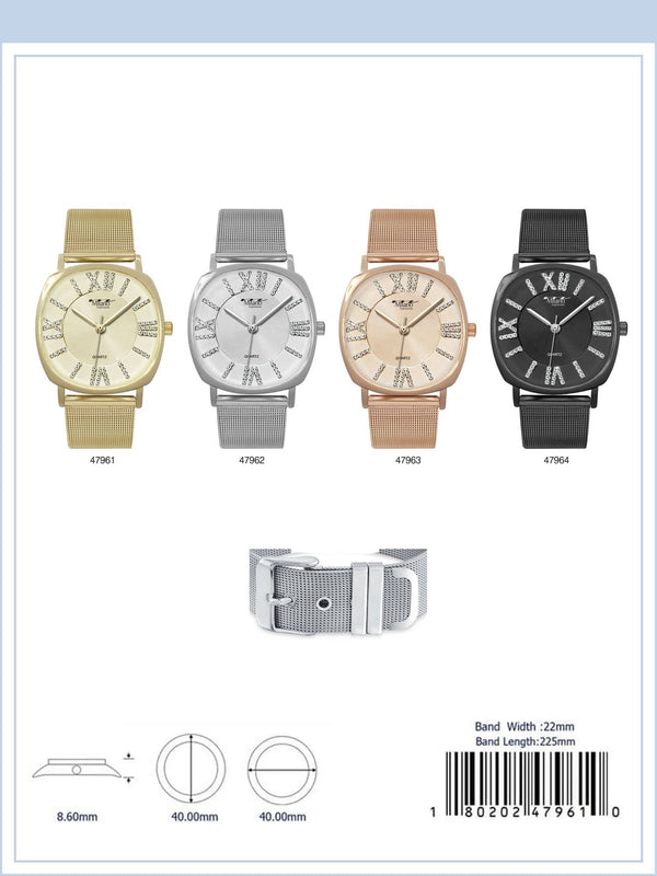 40MM Milano Expressions Mesh Band Watch - 4796