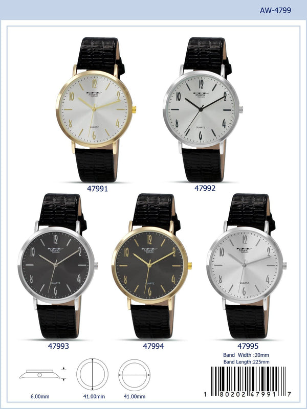 41MM Milano Expressions Vegan Leather Strap Watch - 4799