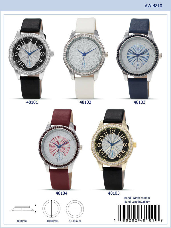 40MM Milano Expressions Vegan Leather Band Watch - 4810