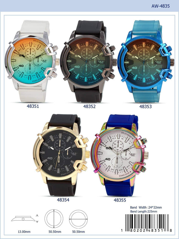 50MM Milano Expressions Rubber Strap Watch - 4835