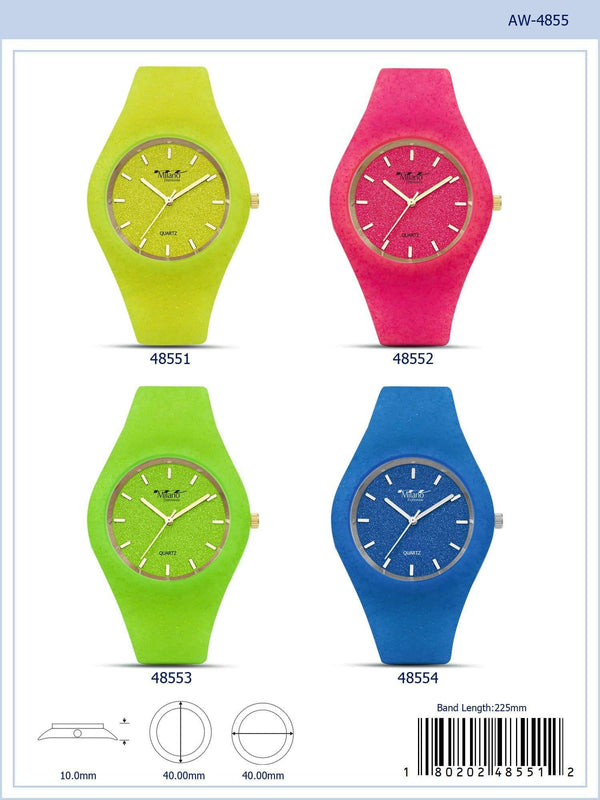 40MM Milano Expressions Rubber Strap Watch - 4855