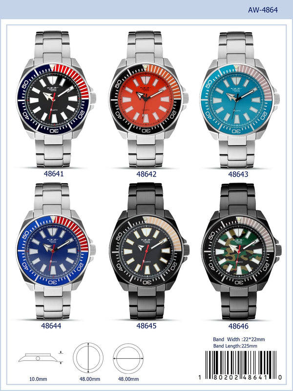 48MM Milano Expressions Metal Band Watch - 4864