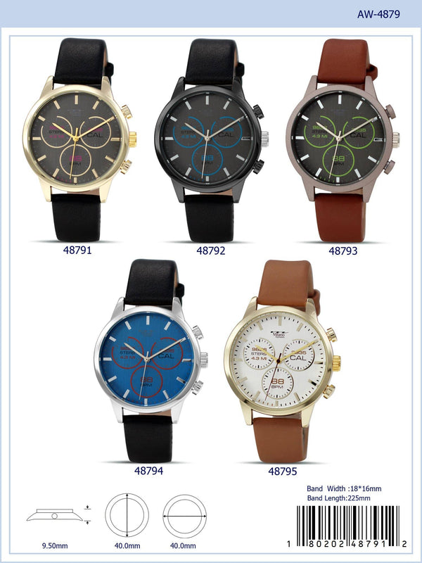 40MM Milano Expressions Vegan Leather Band Watch - 4879