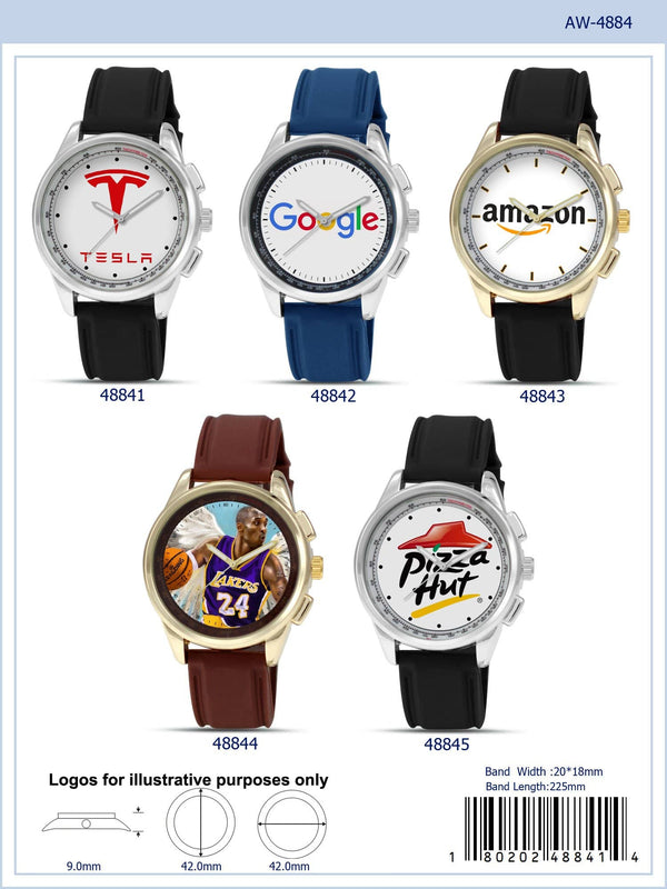 42MM Customizable Rubber Band Sports Watch - 4884