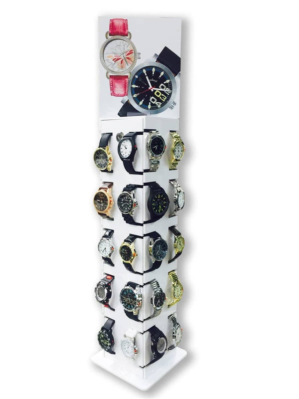 Lockable Standing Display for 40 Watches (G-2009)