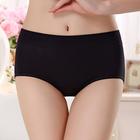 new process pure cotton Women's Panties underwear Mid- waist sexy underwear