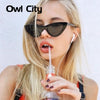 Owl City Vintage Women Sunglasses Cat eye Eyewear
