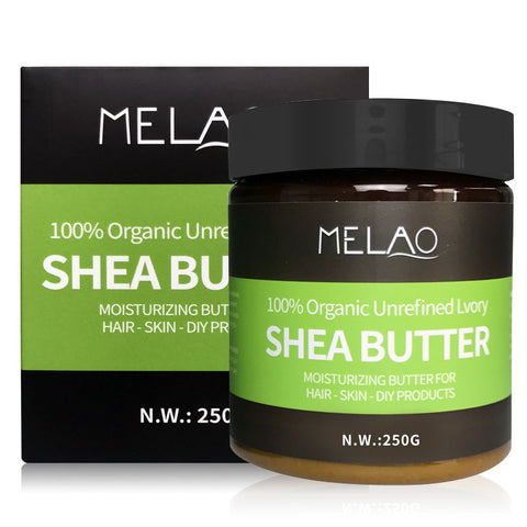 Natural Shea Butter Oil Cream 100% Organic Unrefined Lvory Moisturizing For Hair Dry Skin Sunscreen 250g Repairing Skin Care
