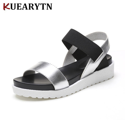 Women Summer Slip On Shoes Peep-toe Flat Shoes