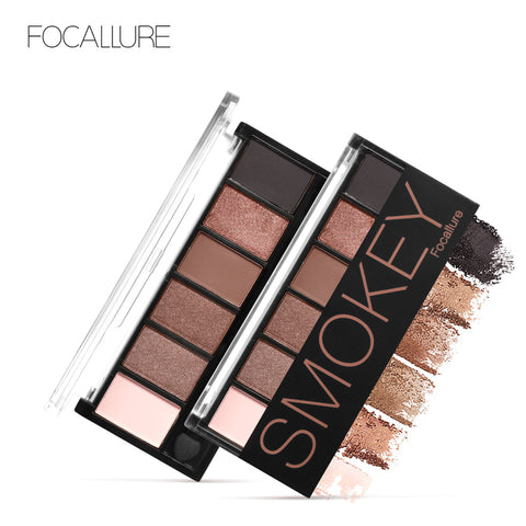 6 Colors Eyeshadow Palette Glamorous Smokey Eye Shadow