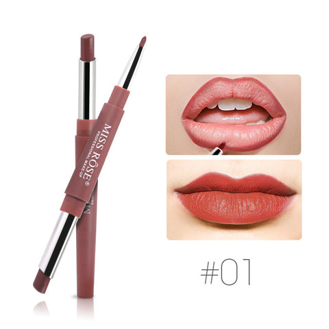 Matte Lip Stick Color Cosmetics Wateproof Double Ended Long Lasting