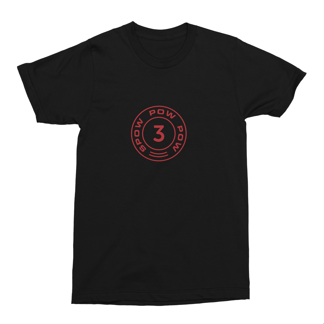 SPOW Tee <br>Black / Red - 3Robi-merchandise