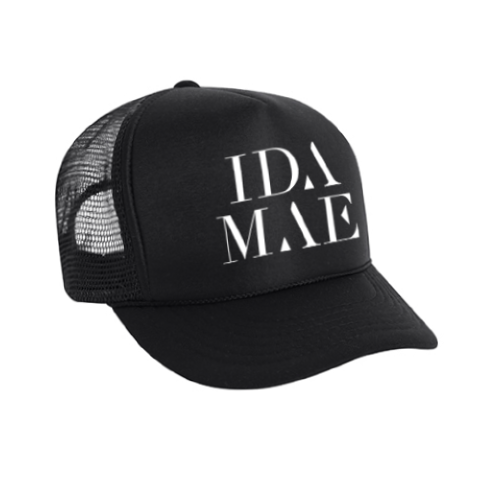 Ida Mae Black Trucker Hat