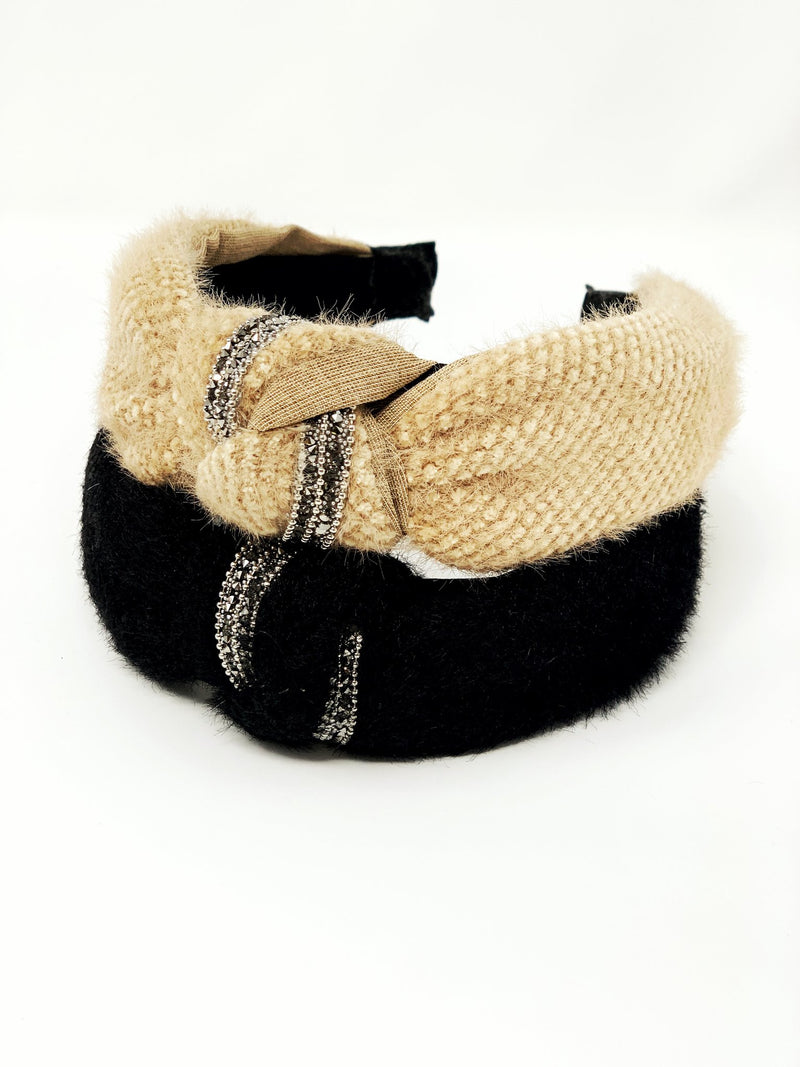 Faux Fur Headband (Black)