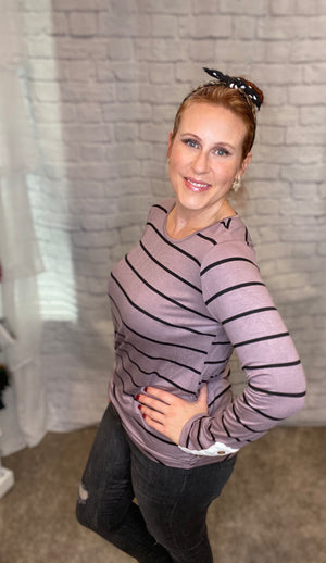 Curvy Comfort & Cool Top - Deep Lavender