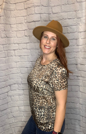 Sleek Look Leopard Blouse