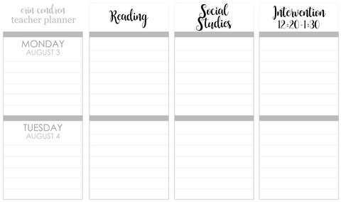 T150 || Custom Neutral Teacher Planner Header Stickers