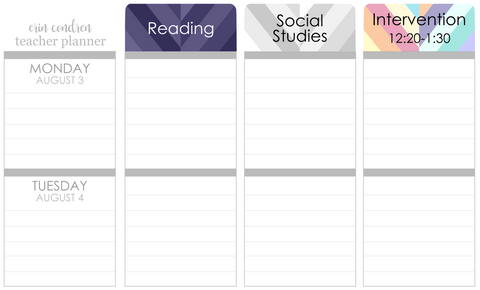 R01 || Custom Retro Weekly Teacher Planner Header Stickers