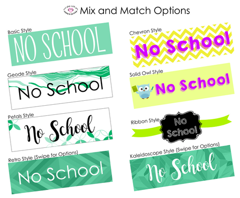 10 Mix and Match Full Day Stickers