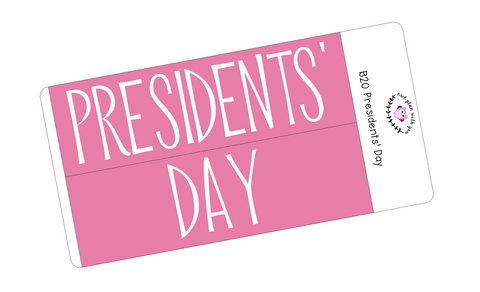B20 || Basic Presidents' Day Full Day Stickers